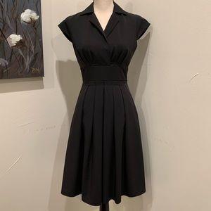 Calvin Klein Black Surplice Fit & Flare Dress